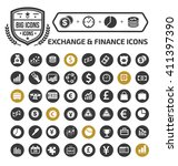 exchange and finance icon set... | Shutterstock .eps vector #411397390