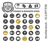 finance and business icon set... | Shutterstock .eps vector #411397558