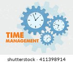 time management with clock... | Shutterstock . vector #411398914