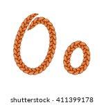 braids font. alphabet made from ...   Shutterstock .eps vector #411399178