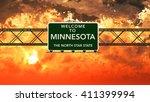 welcome to minnesota usa... | Shutterstock . vector #411399994