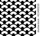trellis.  fish scales seamless... | Shutterstock .eps vector #411400210