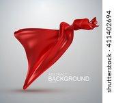 red silk fabric. vector... | Shutterstock .eps vector #411402694