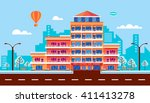 stock vector illustration city... | Shutterstock .eps vector #411413278