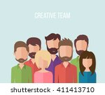 flat line design style modern... | Shutterstock .eps vector #411413710