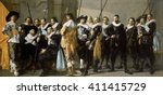 Militia Company of District XI Under the Command of Captain Reynier Reael, 1637, Dutch oil painting. By Frans Hals and Pieter Codde, oil on canvas. After Hals had conflicts with the guardsmen, Pieter