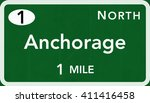 anchorage usa interstate... | Shutterstock . vector #411416458
