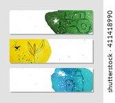 banners for advertising... | Shutterstock .eps vector #411418990