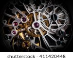 mechanism  clockwork of a watch ... | Shutterstock . vector #411420448