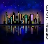 skycrapers. city skyline. city... | Shutterstock .eps vector #411421999