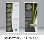 roll up banner stand template.... | Shutterstock .eps vector #411425473
