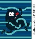cute monster vector design for... | Shutterstock .eps vector #411433120