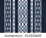 geometric ethnic oriental ikat... | Shutterstock .eps vector #411433600