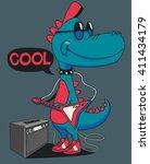 monster  dinosaur rock star... | Shutterstock .eps vector #411434179
