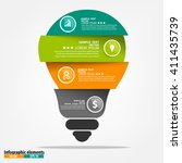 vector light bulb infographic....   Shutterstock .eps vector #411435739