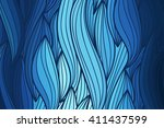 abstract vector wave blue... | Shutterstock .eps vector #411437599