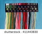 threads floss. colorful cotton... | Shutterstock . vector #411443830
