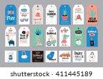cute summer scandinavian set of ... | Shutterstock .eps vector #411445189