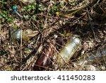 trash  plastic bottles in the... | Shutterstock . vector #411450283