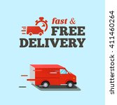 fast delivery illustration ... | Shutterstock .eps vector #411460264