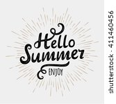 hello summer  typographic... | Shutterstock .eps vector #411460456