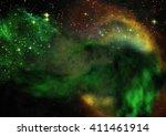 star field in space a nebulae... | Shutterstock . vector #411461914