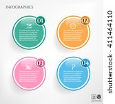 set  group  collection of four... | Shutterstock .eps vector #411464110
