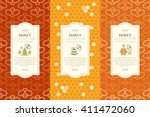 vector packaging template with... | Shutterstock .eps vector #411472060
