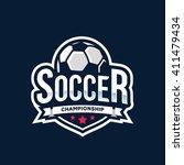 soccer logos  american logo... | Shutterstock .eps vector #411479434