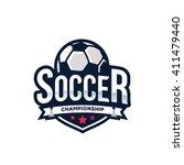 soccer logos  american logo... | Shutterstock .eps vector #411479440
