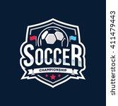 soccer logos  american logo... | Shutterstock .eps vector #411479443