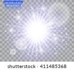 light effect. star burst with... | Shutterstock .eps vector #411485368