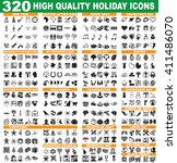 320 high quality holiday icons...