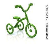 3d illustration of green... | Shutterstock . vector #411487873