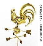 3d illustration. golden weather ... | Shutterstock . vector #411490660