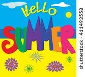 summer. vector illustration of  ...   Shutterstock .eps vector #411493558