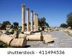 Ancient Roman Street At Umm...