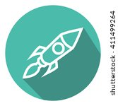 rocket launch background. flat...   Shutterstock .eps vector #411499264