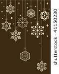 vector set of snowflakes ... | Shutterstock .eps vector #41150230