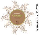 label concept for coconut oil.... | Shutterstock .eps vector #411510718