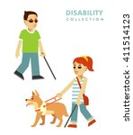 disability blind person concept.... | Shutterstock .eps vector #411514123