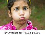 Little Gypsy Girl Child Holdin...