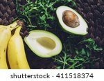 healthy natural organic food... | Shutterstock . vector #411518374