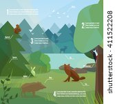 forest infographic in low... | Shutterstock .eps vector #411522208