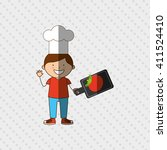 kids cooking design  | Shutterstock .eps vector #411524410