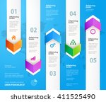 arrow infographic design... | Shutterstock .eps vector #411525490
