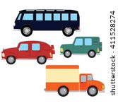 vector set. multicolored bus ... | Shutterstock .eps vector #411528274