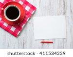 coffee break with cookies | Shutterstock . vector #411534229