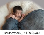 Cute Newborn Baby Boy Sleeps...