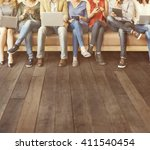 diversity people connection... | Shutterstock . vector #411540454